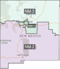 US Congressional districts for New Mexico
